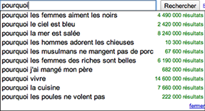 pourquoi requete google
