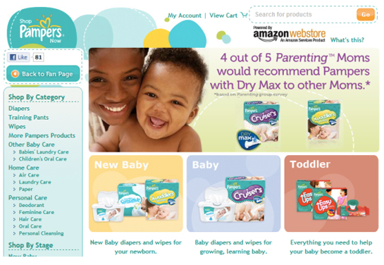 pampers netinfluence facebook
