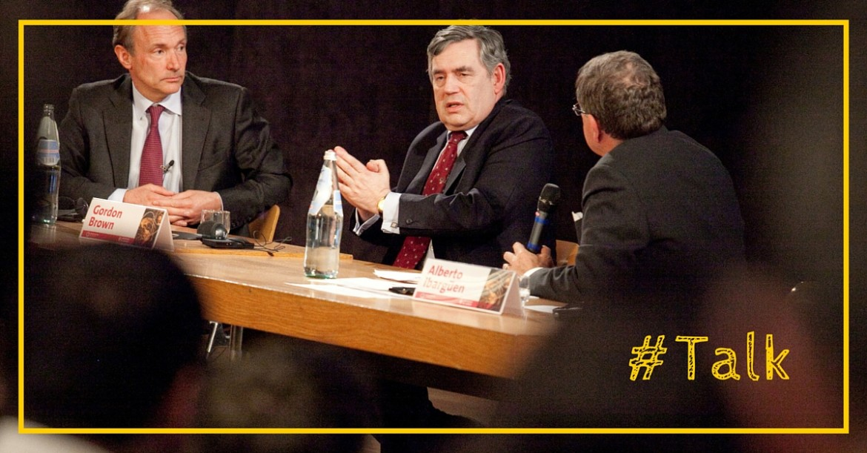 Gordon Brown et Tim Berners-Lee: concilier web et développement
