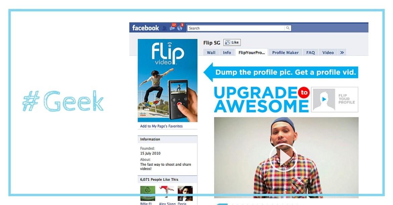 Flip Video: la vidéo de profil facebook