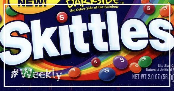 """Les nouveaux Skittles bleus, le bouton """"send"""" de Facebook, Facebook Studio et bien plus dans notre Weekly Review n°34!"""