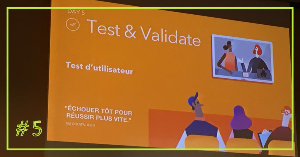Design sprint - Testez et Validez